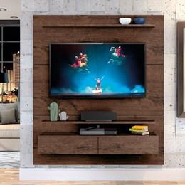 "Home Suspenso Fabuloso 160cm P/TV até 60"" Jacarandá - Zanzini"