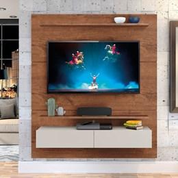 """Home Suspenso Fabuloso 160cm P/TV até 60"""" Natural/Off White - Zanzini"""