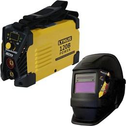 Inversora De Solda Power 120A Bivolt e Máscara de Solda Automática com Regulagem Gt-Mcr