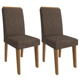 Jogo 02 Cadeiras Milena Savana Cacau - Cimol