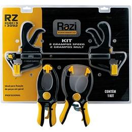 Jogo com 2 grampos Speed e 2 grampos Multi-Uso RAZI-RZKG8019