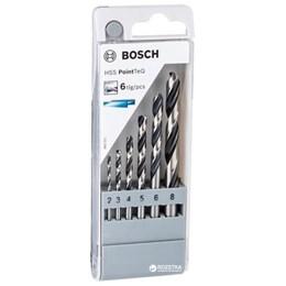 Jogo de Brocas 2 a 8mm HSS Point Teq 6 Peças - Bosch