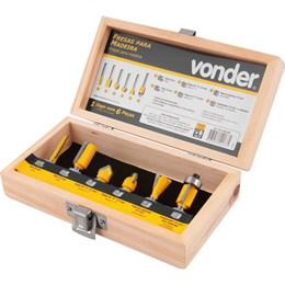 Jogo de fresa para madeira com 6 peças VONDER 53.14.060.060