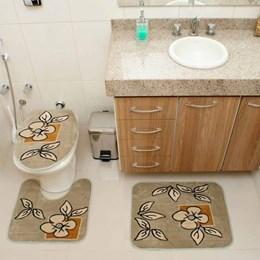 Jogo de Tapetes para Banheiro Royal Luxury  Rl101 Verde   - Rayza Tapetes
