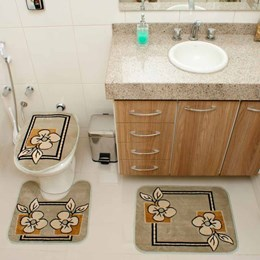 Jogo de Tapetes para Banheiro Royal Luxury  Rl103 Verde   - Rayza Tapetes