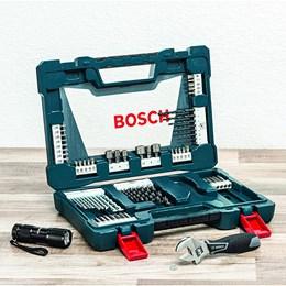 Jogo Kit De Ferramentas Brocas V-line Bosch 83 Pecas Bosch
