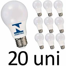 Kit 20 Lampadas Led bulbo A60 9W 3000K Bivolt Vany com Inmetro