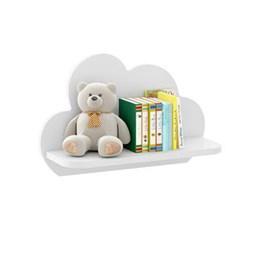 Kit C/2 Prateleiras Nuvem Decorativas em MDF Branco Premium Multimóveis