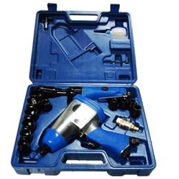 Kit Chave de Impacto 1/2 Pneumática com Catraca Maleta e Acessórios EDA/EXCELLENT