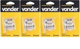 Kit com 04 Fixador de porta de pressão para piso - VONDER