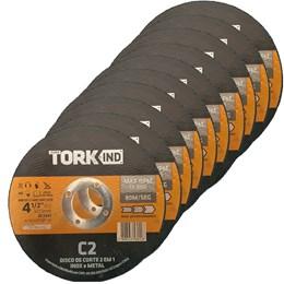 Kit com 10 Disco de Corte INOX e METAL 4.1/2X1.2X22.2MM - Tork