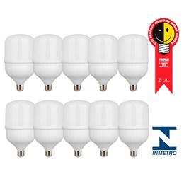 Kit com 10 Lâmpadas Led Globe E-27 40w 6500k Bivolt Kian