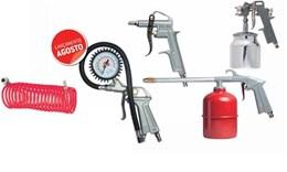 Kit de Pintura Jogo 5 Peças Pistola Hvlp Para Compressor
