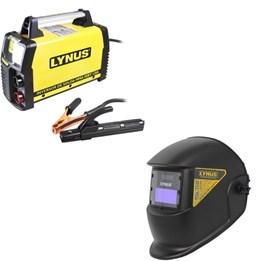 Kit Inversora de Solda Portátil LIS130 e Máscara - Lynus