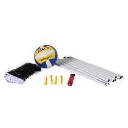 Kit Jogo Volei com Rede Mastros Bomba Infladora Bola Voleibol Bel Fix