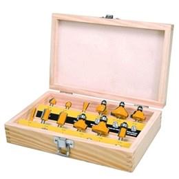 Kit Tupia manual laminadora 350w 220v com Jogo de fresa para madeira 12 peças