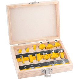 Kit Tupia manual para pinça de 6 mm GKF550 Bosch com jogo de fresas 12 peças