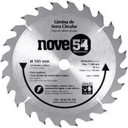 Lâmina de serra circular com dente de metal duro, 185 x 16 mm, 24 dentes Nove54