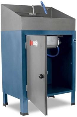 Lavadora de peças basic desmontável com reservatório de plástico