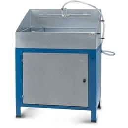 Lavadora de peças fechada com reservatório de plástico
