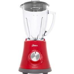 Liquidificador Oster Super Chef Copo de Vidro - Vermelho 8 Velocidades 750W