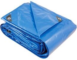 Lona reforçada de polietileno azul 10 m x 6 m - Vonder