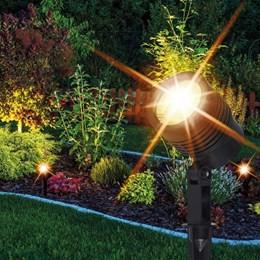 Luminária Led Articulada Eespeto de Jardim PVC 5W 3K