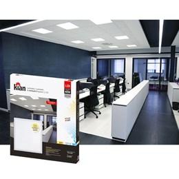 Luminária Led Kian Paflon Embutir Slim Quadrada 40W 62CM 6,5K KIAN