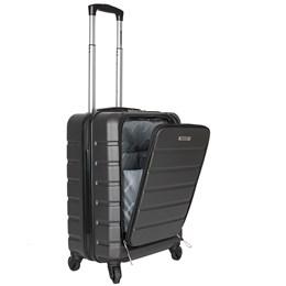 Mala de Bordo Executiva Cinza para Notebook ABS Roda Dupla 360º Cadeado TSA - Best