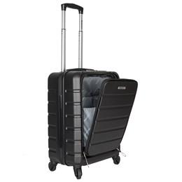 Mala de Bordo Executiva Preto para Notebook ABS Roda Dupla 360º Cadeado TSA - Best