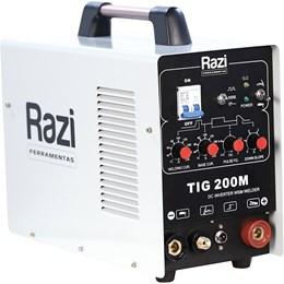 Máquina Inversora De Solda Tig MMA 200M Razi Monofásico AC 220V