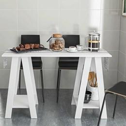 Mesa de Café Cozinha Iris Branca - Politorno