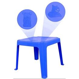 Mesa Decorada Teddy Infantil 45x45cm  Azul