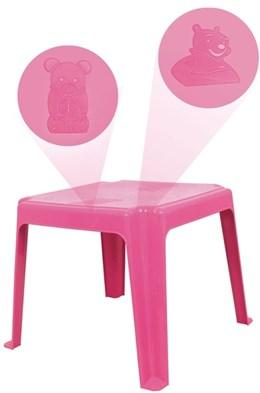 Mesa Decorada Teddy Infantil 45x45cm - Rosa