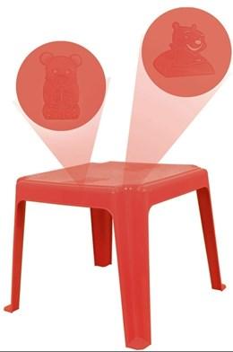 Mesa Decorada Teddy Infantil 45x45cm Vermelha