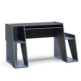 Mesa Gamer Escrivaninha Kyoto Com 3 Nichos Preto Azul Politorno