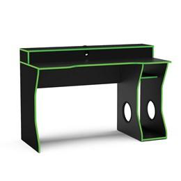 Mesa Gamer Fremont P/ 2 Monitores Preto/Verde - Politorno