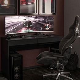 Mesa Gamer para Computador Preta Lotus - Politorno