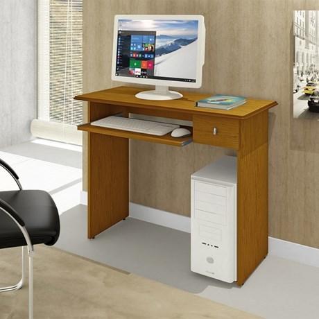 Mesa para Computador 1 Gaveta Dalian Imbuia Mel - Mavaular