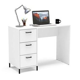 Mesa para Computador 3 Gavetas Santa Mônica Branco Politorno