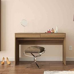 Mesa para Computador Lindoia 2 Gavetas Castanho Politorno
