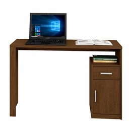 Mesa para Computador Luminos Nogueira  - Mavaular Móveis