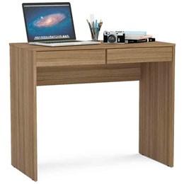 Mesa para Computador Tijuca Castanho 2 Gavetas  Politorno