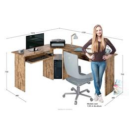 Mesa para Escritório em L 1 Gaveta Max Demolição  - Zanzini