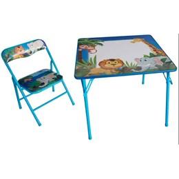 Mesa pedagógica Infantil com 1 cadeiras bichinhos - Antares