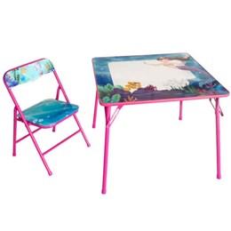 Mesa pedagógica Infantil com 1 cadeiras sereia - Antares
