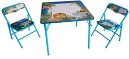Mesa pedagógica Infantil com 2 cadeiras bichinhos - Antares