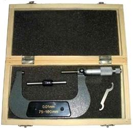 Micrometro 75 A 100 X 0,01 Mm Com Estojo 3AO EDA