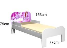 Mini-cama Soneca Branco/Princesa - Tigus Baby