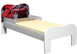 Mini-cama Soneca Carro Branco/Vermelho - Tigus Baby